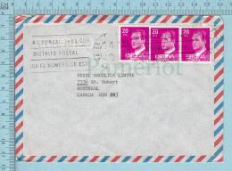 Espagne  - Envelope, , Air Mail, Valls Tarracona To Canada 1984, To Canada - 1931-Aujourd'hui: II. République - ....Juan Carlos I