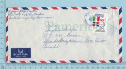 Republica Dominicana  - Envelope, , Air Mail,Cover Santo Domingo 1989 Send To Iles De La Madelaine Quebec - Dominicaine (République)