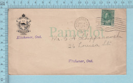 Canada - City Of Berlin Cress, Cover Kitchener Ont. 1916 To  Kitchener Ont. - 1911-1935 Reinado De George V