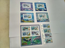 Chad  2012  Sharks Fishes Lighthouses 2539-2542 BL423-426 - Chad (1960-...)