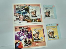 Chad 2004  Astronaut Space 2494-2495  BL402-403 Gold And Silver - Tschad (1960-...)