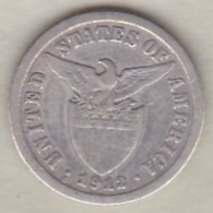 Philippines U.S.A. Administration. 10 Centavos 1912 S San Francisco. Argent.  KM# 169 - Filippijnen