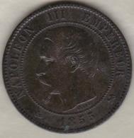 10 Centimes 1855 B Rouen  Ancre Napoléon III - France