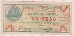 ESTADO DE OAXACA 1 Pesos 1915, Série J, N° 133511 - México