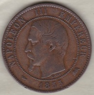 10 Centimes 1855 D Lyon  Chien Napoléon III - France