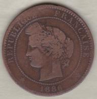 10 Centimes Cérès 1886 A - D. 10 Centimes