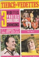 THE MOVE,TINO ROSSI,JACQUELINE DULAC TIERCE DES VEDETTES  3 PHOTOS COULEURS VEDETTES CHANSON S..I..PLUSIEURS PAGES..1969 - People