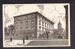 CPSM ITALIE - GROSSETO - GRAND HOTEL BASTIANI - TB PLAN En ILLUSTRATION De L'Etablissement CENTRE VILLE - Grosseto