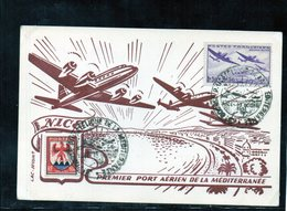 3e Bourse Philatélique De La Méditerranée - Nice 10/10/1954 - Postmark Collection (Covers)