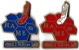 "FT34 - RA ME AU - CNET - 2 Pin""s - Verso : DORE A L'OR FIN / 24 CARATS (BALLARD) - France Telecom"