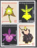 3180  Orchidées - Orchids - Dominicaine 1722-25 MNH - 4,90 - Orchidées