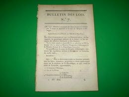 Loi An 12 Napoléon:Monnaie:légende Empereur Au Lieu De 1er Consul.Traité De Lunéville.Comte De La Leyen.Jugement Espions - Decreti & Leggi