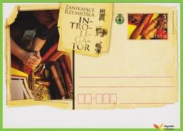 Voyo POLAND PC 2009 VANISHING HANDICRAFT Bookbinder UNC - Stamped Stationery