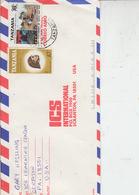 TANZANIA  1991 - Yvert 315 - Lettera Per U.S.A. - Tanzania (1964-...)