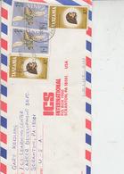 TANZANIA  1991 - Yvert 315-323  - Lettera Per U.S.A.- Insetti - Mosca Tse-tse - Tanzania (1964-...)