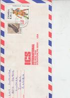 ZAMBIA  1990 - Yvert 505-533  - Lettera Per U.S.A.-sport Calcio - Uccelli - Zambia (1965-...)
