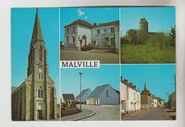 CPM MALVILLE (Loire Atlantique) - 5 Vues - Other Municipalities