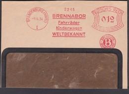 BICYCLE Germany 1934 Mi Meterstamp Bicycle  Part Of Window Envaloppe.................................................411 - Covers & Documents