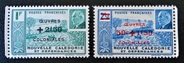 SURCHARGES 1944 - NEUFS ** - YT 246/47 - MI 305/06 - BORDS DE FEUILLES - New Caledonia
