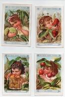 CHROMO Au Petit Saint Thomas Appel Enfants Fillettes Fruits Amandes Cerises Mirabelles Pêches Fraises Raisins (6 Chromos - Autres