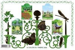 France.bloc No 120 Salon Du Timbre 2008. Jardins De France.n**. - Neufs