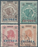 ERITREA - 1924 - USED/OBLIT. - Sa 80-83 Mi 83-86 Yv 80-83 - Lot 16966 - Erythrée