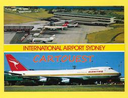 AIRPORT/ AEROPORT/ Sydney International Airport AVION  QANTAS 747 Jet - Sydney