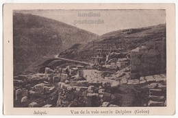 GREECE, DELPHI DELPHES, THE SACRED WAY PATH, C1910s Vintage Postcard - Greece