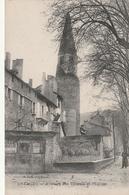 Carte Postale Ancienne De L'Isère - Crémieu - Avenue Des Tilleuls Et L'Eglise - Crémieu