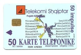 Albania - Tessera Telefonica Da 50 Units T494 - Telekomi Shqiptar - Albania