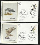 FDC 4 Lettres Illustrées 1er Jour Paris Le 22/09/1984 Les N° 2337 à 2340  Rapaces (liste) TB Soldé  ! ! ! - Collections, Lots & Series