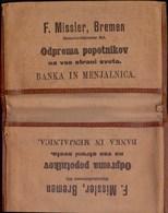 SLOVENIA - REICH - Etui F. MISSLER Ship BREMEN For America - Cc 1910  -EXTREM  RARE - Cheques & Traveler's Cheques