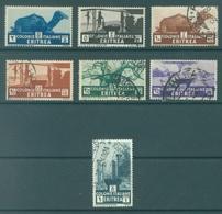 ERITREA - 1933 - USED/OBLIT. - Sa 203-209 Mi 204-210 Yv 195-201 - Lot 16968 - 2C IS MNH/** - Erythrée