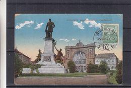 Hongrie - Carte Postale De 1922 - Oblit Budapest - Exp Vers Elisabethville Au Congo Belge - Vue De La Gare - Hongrie