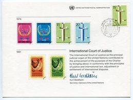RC 9002 NATIONS UNIES 1979 COURT OF JUSTICE FDC 1er JOUR - New-York - Siège De L'ONU