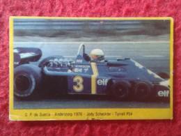 ANTIGUO CROMO DANONE COLECCIÓN GRAN PRIX FORD F1 FÓRMULA 1 G. P. SUECIA ANDERSTORP 1976 JODY SCHECKTER TYRRELL P34 CAR - Cromos