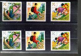 BHOUTAN 363/368** SUR LES 60 ANS DU SCOUTISME - Bhutan