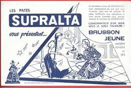 Buvard Publicitaire Années 50  PATES ALIMENTAIRES SUPRALTA -CENDRILLON Illustr. H.S. Imp BRUSSON JEUNE à VILLEMUR (Hte-G - Food