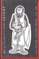 Buvard Années 50  BISCOTTES & PATES GAYANT - Noir Et Blanc Colorier - HUSSARD N° 3 Illus. MC. GEORGES DEHAY à DOUAI Nord - Biscottes