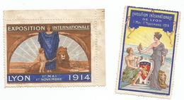 EXPOSITION INTERNATIONALE DE LYON 1914 : 2 VIGNETTES - Cinderellas