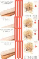 """4 Buvards Années 50      """"LU """"      LEFEVRE-UTILE - N 3 -        LE BOUDOIR - Récolte De La Canne à Sucre   GOOSSENS Pub - Cake & Candy"""