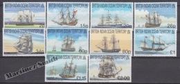 British Indian Ocean 1998 Yvert 215- 224, Definitive, Big Ships - MNH - British Indian Ocean Territory (BIOT)