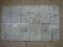 PLAN DER STAD OOSTENDE - BELGIUM, BELGIQUE, OSTEND, OSTENDE, 1952. 69,5X40,5 CM MAP. - Dépliants Touristiques