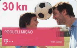 Croatia Chip 30 KN,  Football, Telekom - Croatia