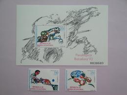 1992 Guinée équatoriale Yvert 266/7 + BF 1 ** Sport JO Scott Xx Michel 1735/6 +B319 SG - Guinée Equatoriale