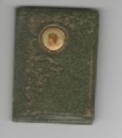Calendriers - PF_ 1898   Cuir Décoré Avec  1 Médaillon  (TTB) 4/5.5 Cm - Calendars