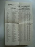 OOSTENDE (KUUROORD). HOTELLIJST / OSTENDE (CENTRE DE CURE). LISTE D'HÔTELS - BELGIUM, OSTENDE, 1948. - Toeristische Brochures