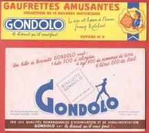 2 Buvards  Années 50   GONDOLO - Gauffrettes Amusantes BALTO   N°9 Et Biscuits   - Maisons Alfort Illustrés Du Gondolier - Cake & Candy