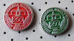 Primary School Osnovna Skola Svetozar Miletic Zemun Serbia Ex Yugoslavia Pins - Administrations