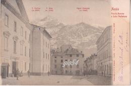 Aosta Piazza Roncas E Sottoprefettura Animata - Italia
